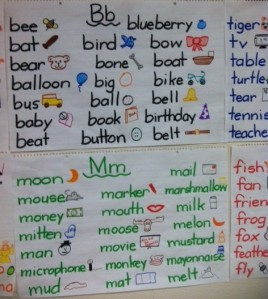Anchor Charts in Kindergarten http://iteachwithipads.net/2012/09/17/more-on-anchor-charts/