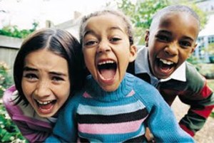 kids laughing