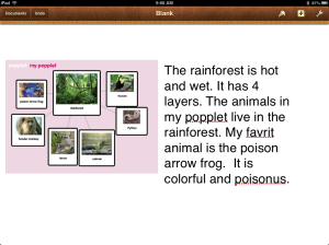 popplet rainforest