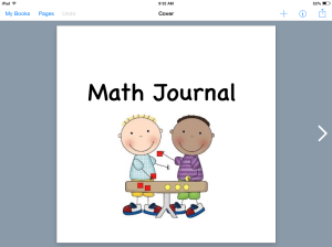 Math Journals with Book Creator | iTeach with iPads