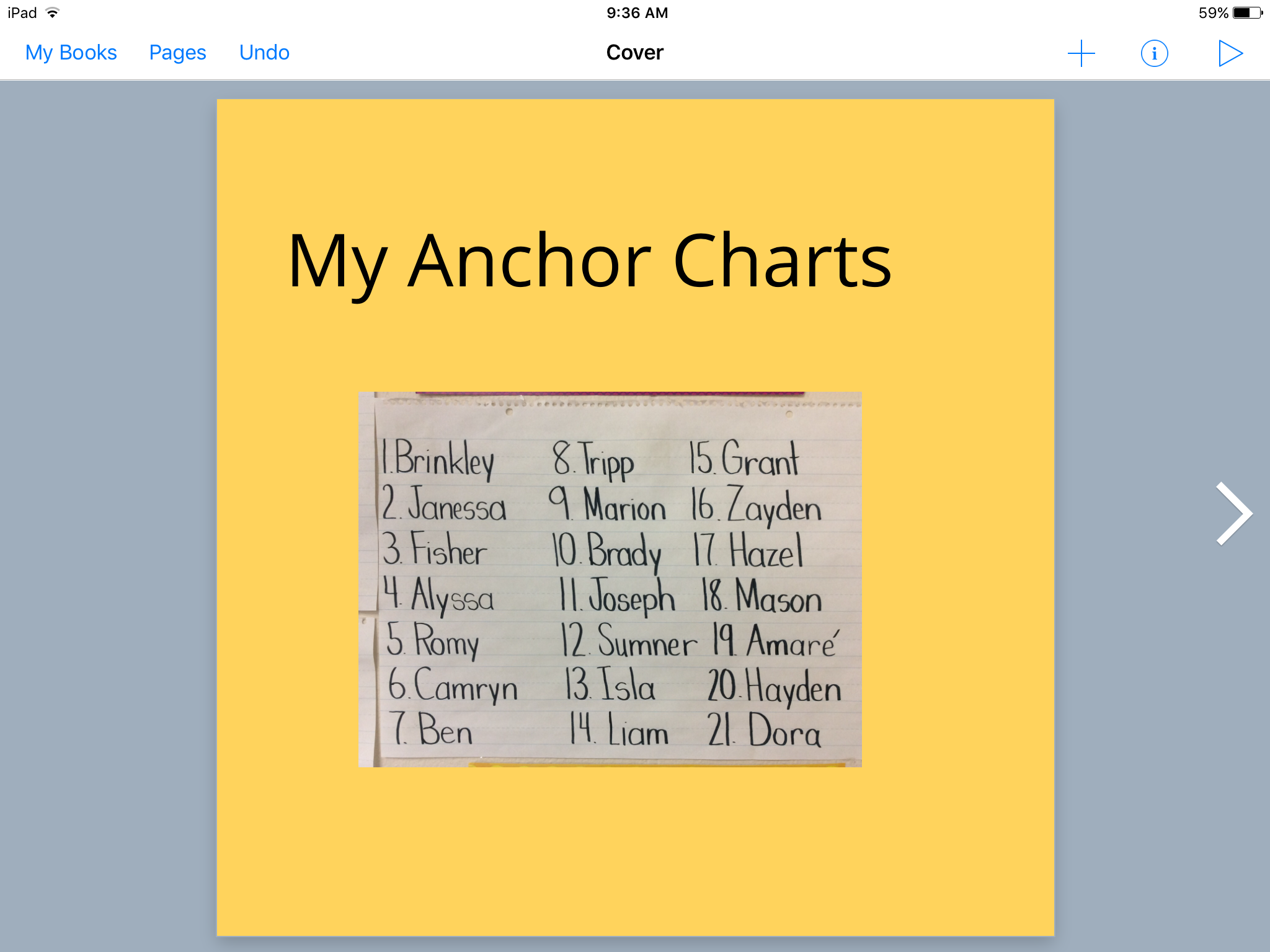 Anchor Charts and Book Creator | iTeach with iPads
